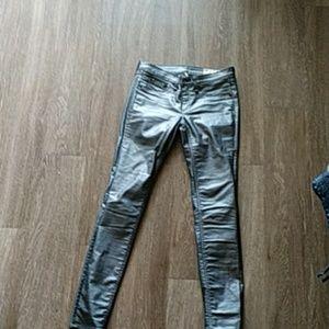 Rag bone grey coated skinny pants